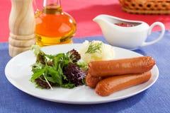 kiełbas sałatkowi warzywa zdjęcie royalty free