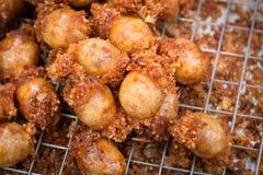 Kiełbasa Smażący Tajlandzki jedzenie obrazy stock