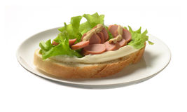 kiełbasa kanapek fotografia stock
