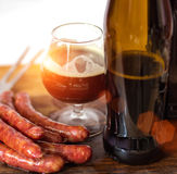 Kiełbasa od piwa i grilla Zdjęcia Stock