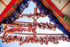 Kiełbasa w powietrzu Obraz Royalty Free