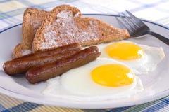 kiełbasiana jajko grzanka Zdjęcia Stock