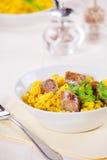 Kiełbasy Rice I curry Fotografia Stock