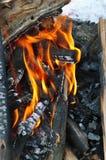 kiedy tło płomienie odizolowanego wspaniale Obraz Stock