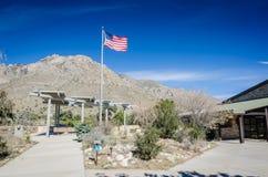 Kiefer entspringt Besucher-Mitte - Guadalupe Mountains National Park stockfotos
