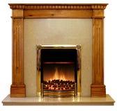Kiefer-Feuer-Einfassung stockfotos