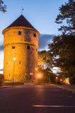 Kiek in de Kök, medieval fortification tower by night Stock Photography