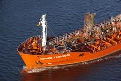 Kiel - bateau-citerne chez Kiel Canal Image libre de droits