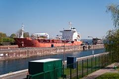 Kiel canal. / lock of holtenau Royalty Free Stock Photography