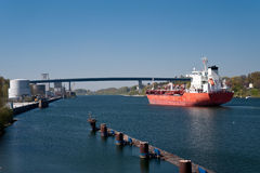Kiel canal Stock Photos