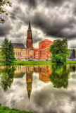 Kiel city hall with reflection from a water surface Royalty Free Stock Photos