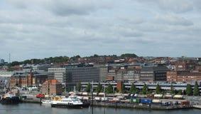 Kiel City - puerto - Alemania - Europa Imagenes de archivo