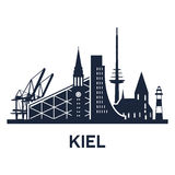 Kiel City Skyline Image stock