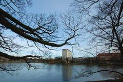 Kiel en invierno Foto de archivo libre de regalías