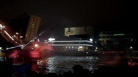 KIEL, GERMANY - JUNI 25, 2016: Ocean Jump Nightshow during the Kiel Weekl in Kiel, Germany stock video footage