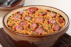 Sausage and Rice Meal Stock Photos