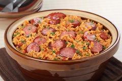 Sausage and Rice Meal Stock Photos