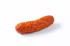 Kielbasa sausage on white background Royalty Free Stock Images