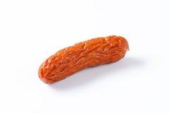 Kielbasa sausage on white background Stock Photos