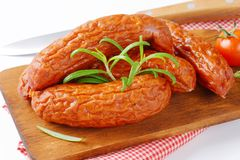 Kielbasa sausages Royalty Free Stock Images