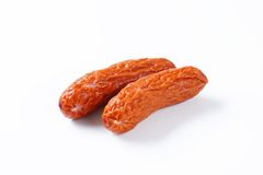 Kielbasa sausages on white background Royalty Free Stock Image