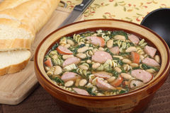 Kielbasa Soup Royalty Free Stock Photos