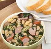 Kielbasa Spinach Soup Royalty Free Stock Images