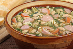 Kielbasa Suppe lizenzfreies stockbild
