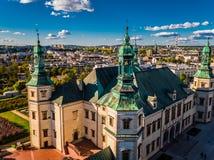 Национальный музей в Kielce дворец съемки епископов Cracow воздушной стоковые фото
