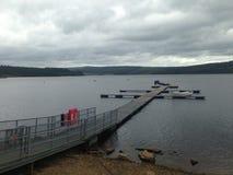Kielder jetty Stock Photo