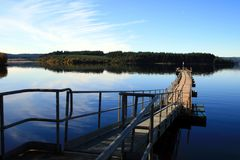 Kielder Water Ferry Landing 2 Royalty Free Stock Photography