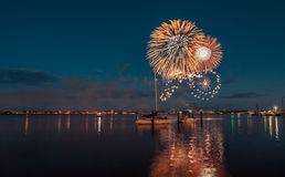 Kieler Woche Fireworks Royalty Free Stock Photos