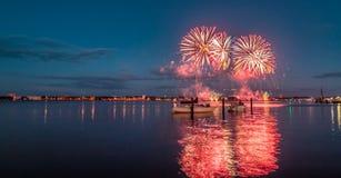 Kieler Woche Fireworks royalty free stock images