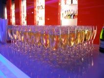 kieliszki szampana Obrazy Stock
