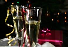 kieliszki szampana Fotografia Royalty Free