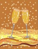 kieliszki szampana Obraz Royalty Free