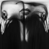 Kielzog omhoog! abstract beeld van een gezicht Stock Afbeeldingen
