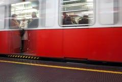 Kielzog van een metro Royalty-vrije Stock Foto's