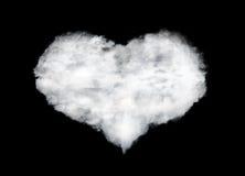 Kierowa kształt chmura odizolowywająca na czerni fotografia royalty free