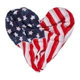 Kierowa kształt flaga amerykańska zdjęcie royalty free