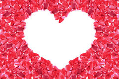 Kierowa kształt rama czerwieni róża Zdjęcia Royalty Free