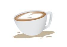 Kierowa kształta Latte sztuka Zdjęcie Stock