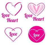 Kierowa miłość datuje loga Zdjęcie Royalty Free