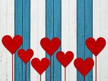 Kierowa serce miłości valentines dnia drewna deska ilustracji
