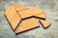 Kierowa tangram łamigłówka Zdjęcia Royalty Free