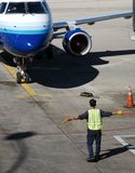 kierowanie samolot obraz royalty free