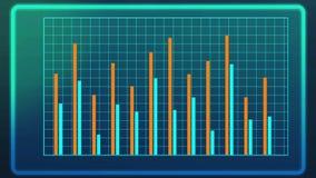 Kierowany komputerowo strzał prętowy wykres, prezentacja analytical ankieta wynika Fotografia Royalty Free