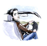 kierowca royalty ilustracja