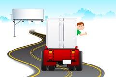 kierowca ciężarówka royalty ilustracja