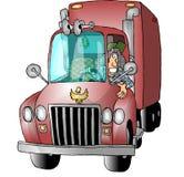 kierowca ciężarówki kobiety. ilustracja wektor